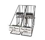 Grindmaster - Cecilware 70655 Airpot Rack, (2) In-Line Style Racks, Holds (4) 2.2 L Airpots, Black
