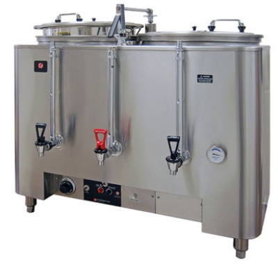 Grindmaster - Cecilware 8106(E) Automatic Twin 6-gal Coffee Urn w/ Fresh Water Brew, Dual Wall 120/208/1 V