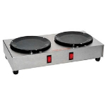 Grindmaster - Cecilware BW-2 Side-By-Side Manual Coffee Warmer w/ 2-Warmers, Stainless, 120-V, 200-W