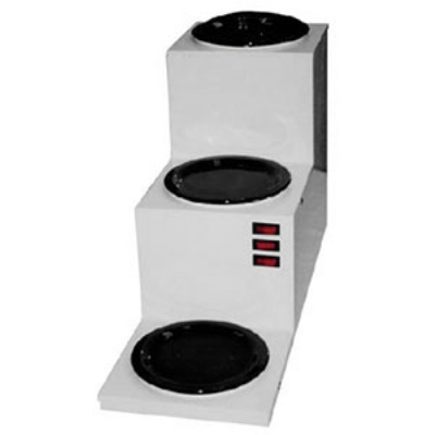 Grindmaster - Cecilware BW3T Step-Up Coffee Warmer w/ 3-Warmers & Stainless Body, 120 V