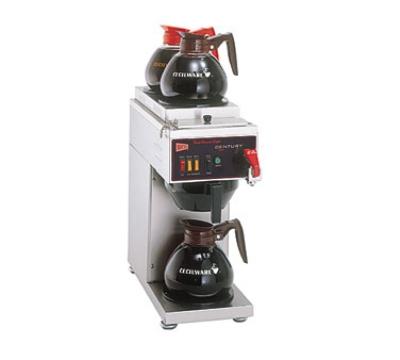 Cecilware/Grindmaster C2003G-BL Century 2000 Series Coffee Brewer Auto Gravity Feed 3 Warmer Black Restaurant Supply
