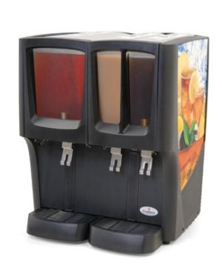 Grindmaster - Cecilware C-3D-16 Cold Beverage Dispenser w/ (1) 5-Gallon & (2) 2.4-Gallon Bowls, 120v