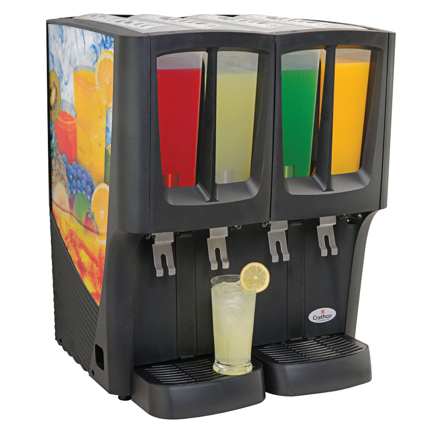 Grindmaster - Cecilware C-4D-16 Crathco Mini-Quattro Cold Beverage Dispenser, (4) 2.4 gal., Tri-Cool, NSF