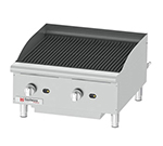 "Grindmaster - Cecilware CCP24 24"" Countertop Gas Charbroiler w/ Cast Iron Grates, (2) Burner"