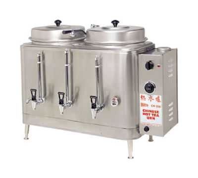Cecilware CH100N Twin Chinese Hot Tea Urn w/ 3-gal/Liner Capacity, Fresh Water, 208v/3ph