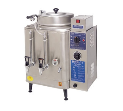 Cecilware CL200-3 Twin Coffee Urn w/ 6-gal/Liner Capacity, Automatic, Fresh Water, 208v/3ph