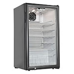 "Grindmaster - Cecilware CTR3.75 19"" Countertop Refrigeration w/ Front Access - Swing Door, Black, 120v"
