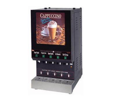 Grindmaster - Cecilware GB5M10-LD 5-Flavor Hot Cappuccino Dispenser w/ 6-gal Capacity, 5-Hopper, 98-Burst 120 V