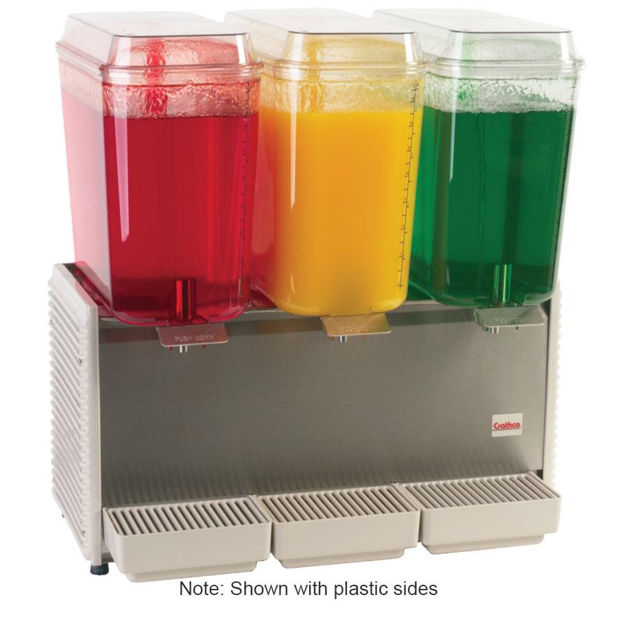 Grindmaster - Cecilware D35-3 Cold Beverage Dispenser For Premix, (3) 5-Gallon, Stainless, 120 V