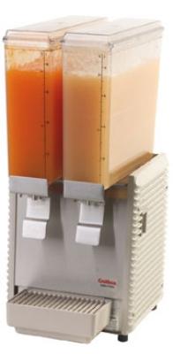 Grindmaster - Cecilware E29-4 Twin Premix Cold Beverage Dispenser, (2) 2.4-Gallon, Plastic, 120 V