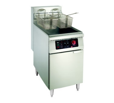 Grindmaster - Cecilware EFP40 2401 Floor Model Fryer, 40 lb. Fat Capacity, Mild Steel Tank, 240/1 V