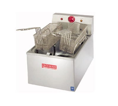 Grindmaster - Cecilware EL120 Countertop Electric Fryer - (1) 15-lb Vat, 120v/1ph