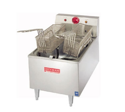 Grindmaster - Cecilware EL170 Countertop Electric Fryer - (1) 15-lb Vat, 120v/1ph
