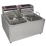 Grindmaster - Cecilware EL2X25 Countertop Electric Fryer - (2) 15-lb Vat, 240v/1ph
