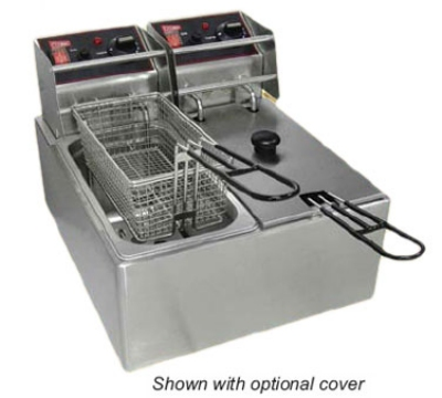Cecilware EL2X6 Countertop Electric Fryer - (2) 6-lb Vat,120v
