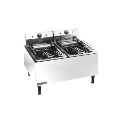 Grindmaster - Cecilware ELT500 240 Countertop Electric Fryer - (2) 30-lb Vat, 240v/1ph