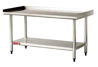 Cecilware/Grindmaster EQS-4-2448-BSN Equipment Stand w/ Backsplash 24 in D x 48-1/4 W x 26 H 400 lb Capacity Restaurant Supply