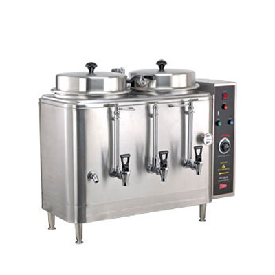 Cecilware FE100N-102418 Twin 3-Gal Automatic Coffee Urn - Stainless, 208v/3ph