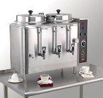 Cecilware FE200-1 Twin Coffee Urn w/ 6-gal/Liner Capacity, Automatic, 1-lb or 2-lb Batch, 240v/1ph