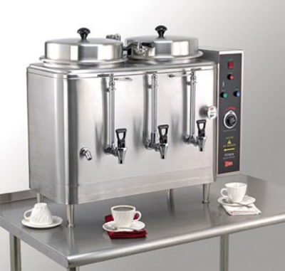 Cecilware FE200-1 Twin Coffee Urn w/ 6-gal/Liner Capacity, Automatic, 1-lb or 2-lb Batch, 208v/1ph