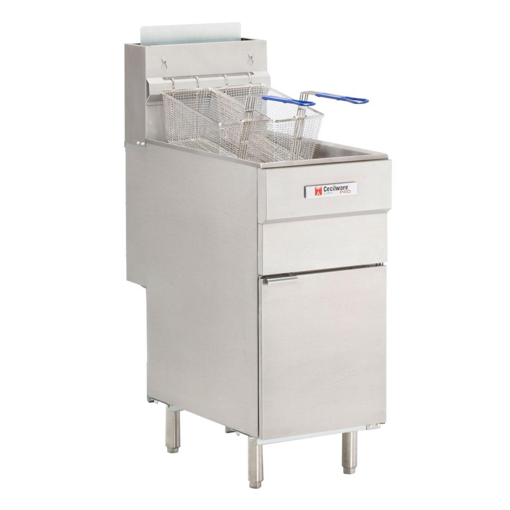 Cecilware FMS403NAT Gas Fryer - (1) 40-lb Vat, Floor Model, NG
