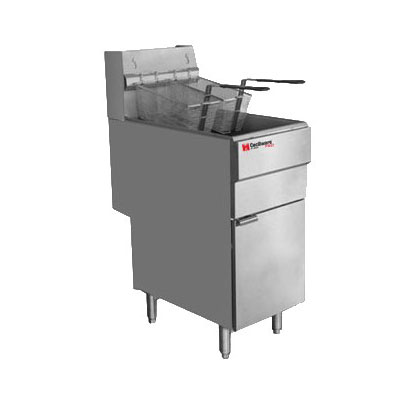 Cecilware FMS504NG Gas Fryer - (1) 50-lb Vat, Floor Model, NG