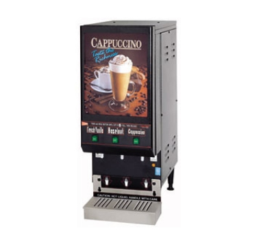 Grindmaster - Cecilware GB3LP Low Profile Cappuccino Dispenser, 3-Hoppers, Black