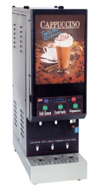 Cecilware GB3M10-IT-LD 3-Flavor Cappuccino Machine w/ (2) 5-lb & (1) 10-lb Hoppers, 120v