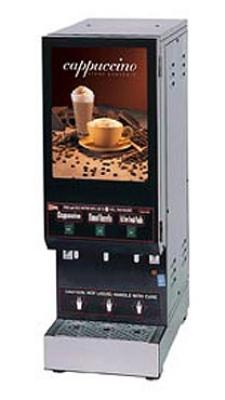 Cecilware GB3M10-LD 3-Flavor Cappuccino Machine w/ (2) 5-lb & (1) 10-lb Hoppers, 120v