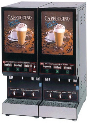 Cecilware GB3M10-LD-U 3-Flavor Cappuccino Machine w/ (2) 5-lb & (1) 10-lb Hoppers, 120v