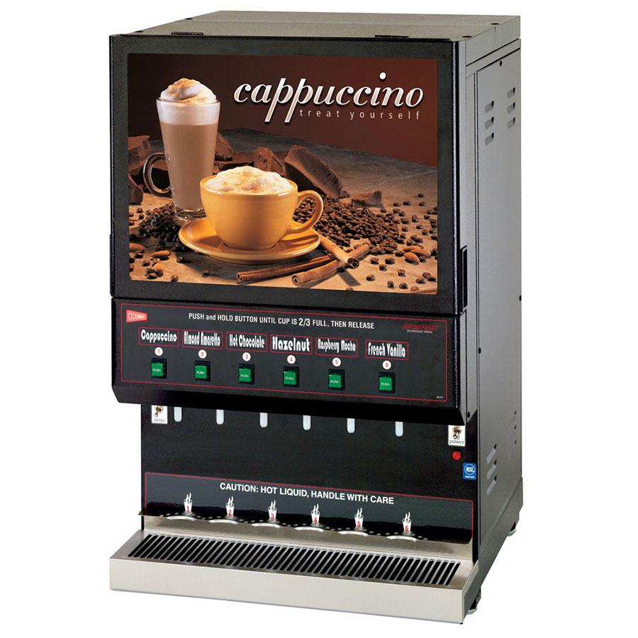 Cecilware GB6M10-LD-U 6-Flavor Cappuccino Machine w/ (1) ...