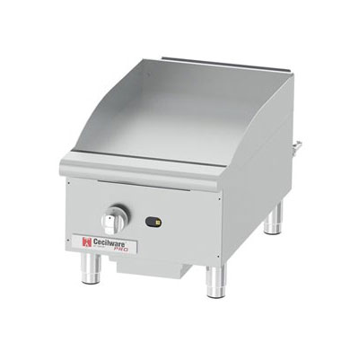 """Cecilware GCP15 15"""" Gas Griddle - Manual, 1"""" Steel Plate"""