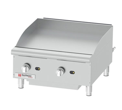 Grindmaster - Cecilware GCP24 24-in Countertop Gas Griddle w/ 3/4-in Steel Plate & Manual Controls