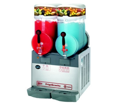 Grindmaster - Cecilware GIANT2 Twin Slush Machine, 4-Gallon Bowls, Manual Fill, Stainless