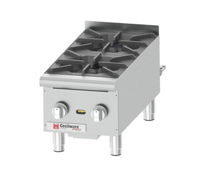 Grindmaster - Cecilware HPCP212 Counter Unit Hotplate, Gas, (2) 22,000 BTU Burners, Manual Controls