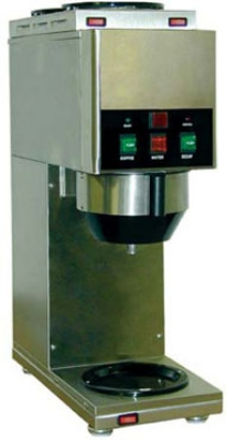 Grindmaster - Cecilware JAVA 2 QB-D 240 Decanter/Cup Liquid Coffee Dispenser, 2-Hoppers, 240 V