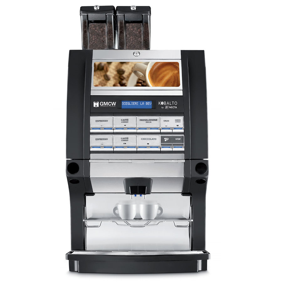 Grindmaster - Cecilware KOBALTO2/2 120/240 Automatic Espresso Brewer - (2)Boilers, (4)Hoppers, Touch Pad 120/240v