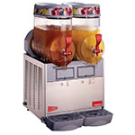Cecilware MT2MINI Twin Slush Machine w/ 2.5-gal/Bowl Capacity, Manual Fill, Stainless, 115v
