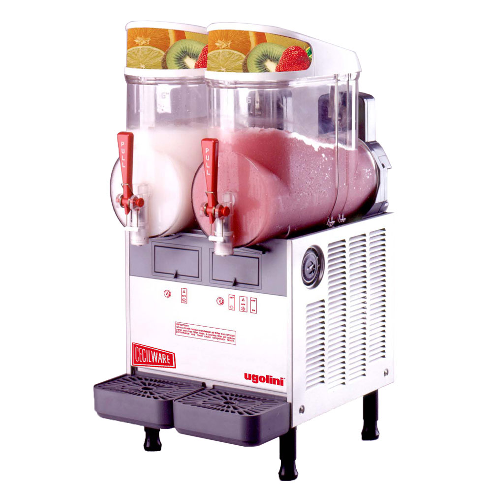 Cecilware MT2UL Twin Slush Machine w/ 2.5-gal/Bowl Capacity, Manual Fill, Stainless, 115v