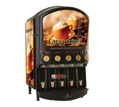 Grindmaster - Cecilware PIC-5 Hot Chocolate/Cappuccino Dispenser, Five Head Unit, 8 in Cup Clearance