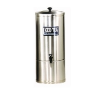 Grindmaster - Cecilware S2 2 gal Iced Tea Dispenser, 7 in Faucet Clearance, Portable, Stainless