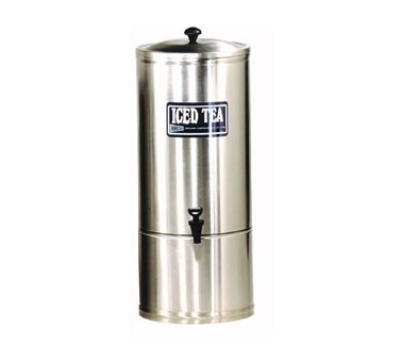 Grindmaster - Cecilware S3 3 gal Iced Tea Dispenser, Portable, 7 in Faucet Clearance, Stainless