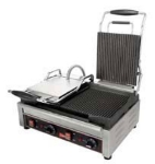 Cecilware SG2LG Double Commercial Panini Press w/ Cast Steel Grooved Plates, 240v/1ph