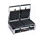 Grindmaster - Cecilware TSG2G Split Top Panini Grill w/ Grooved Enameled Cast Iron Plates