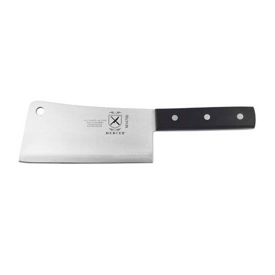 Mercer Cutlery M14706 6-in Heavy Duty Kitchen Cleaver w/ POM Handle
