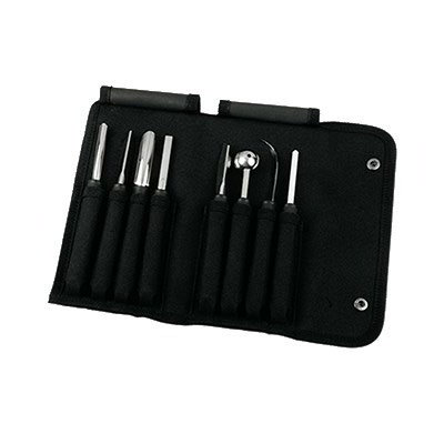 Mercer Cutlery M15990 9-Piece Carving Tool Set w/ Heavy-Duty Nylon Storage Roll
