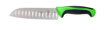 Mercer Cutlery M22707GR 7-in Millennia Primary-4 Santoku Knife w/ Granton Edge, Green