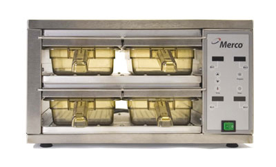 Merco Savory 86003 Holding Cabinet w/ 4-Bins, 2-Cavities & Programmable Menu, Stainless, Export