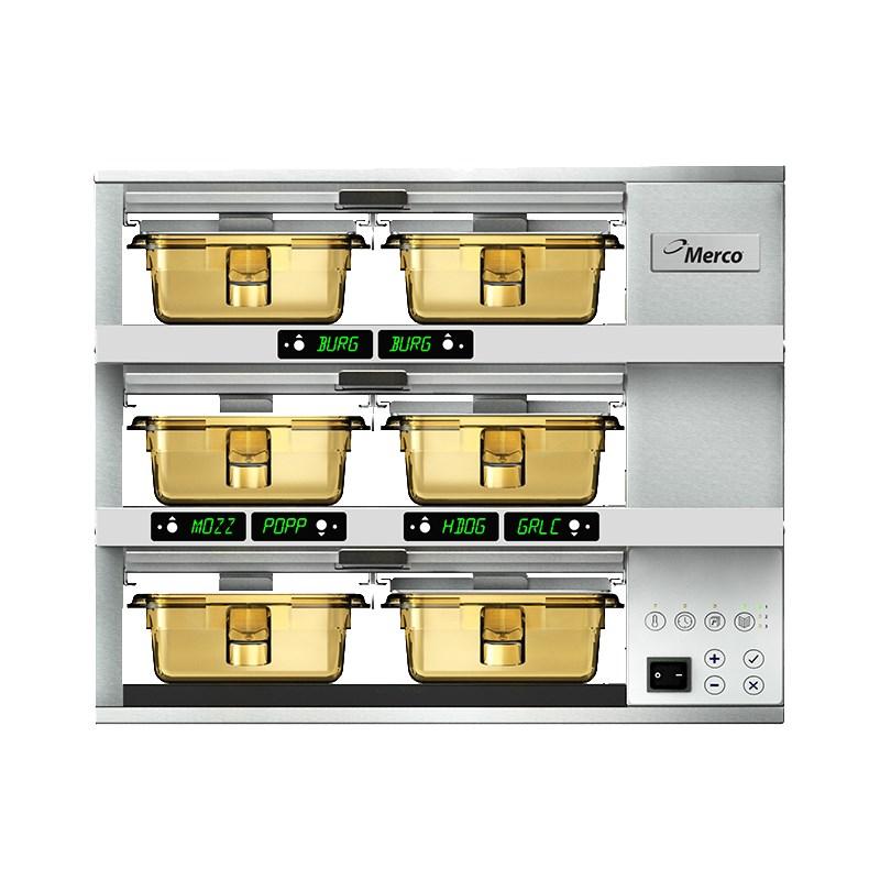 Merco Savory MHG32SAB2N 6-Pan Pass-Thru Heated Holding Cabinet - Stainless, 208-230v/1ph