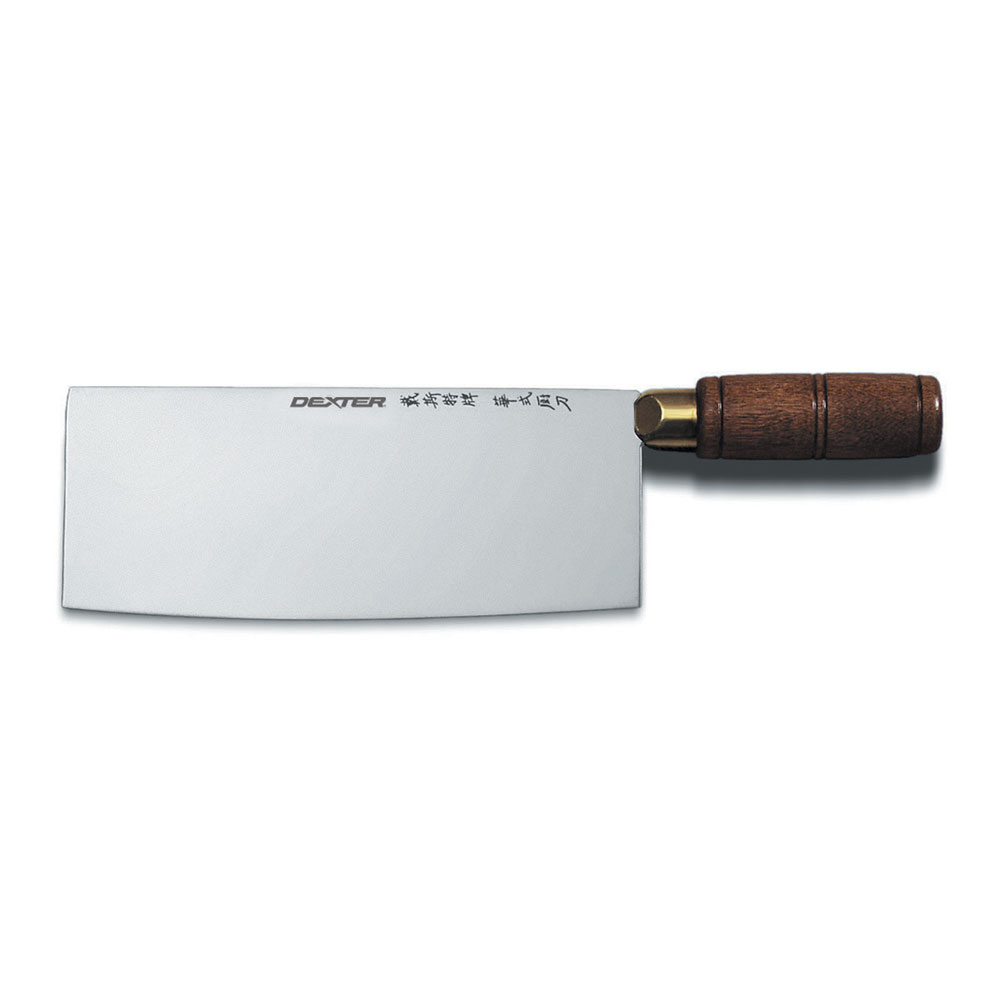"Dexter Russell S5198PCP 8"" Chinese Chef's Knife w/ Hardwood Handle, Carbon Steel"